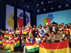 The Bolivian delegation represented the summit´s largest delegation